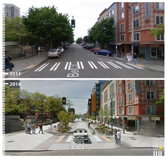 Bell Street Seattle Before & After Shared Space