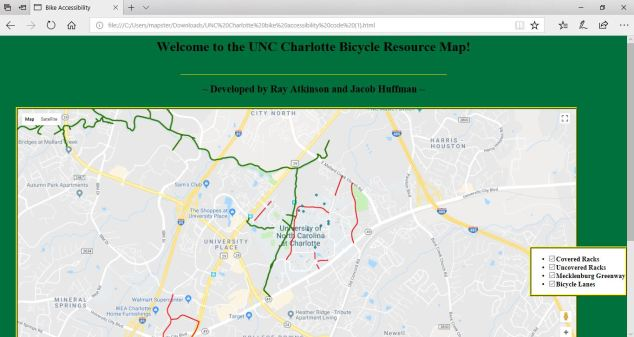 UNC Charlotte Bicycle Resource Page